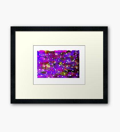 Acrylic Abstract Framed Print