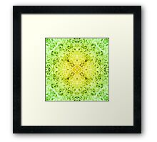 """Spirit of India: Fleur-Web"" in grass green and yellow Framed Print"