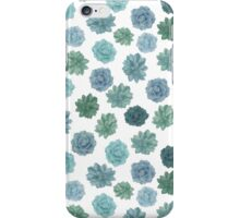 green succulent pattern iPhone Case/Skin
