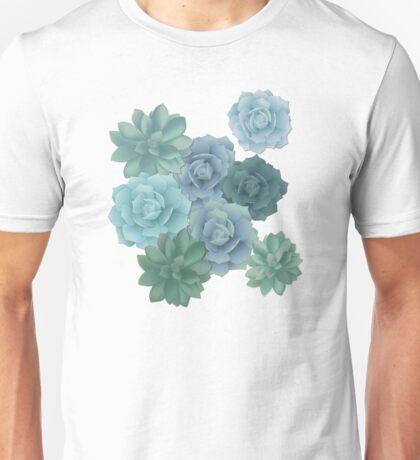 green succulent pattern Unisex T-Shirt