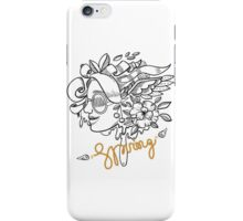 fashion illustration spring girls iPhone Case/Skin