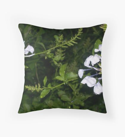 Blue Eyes Laughing in the Rain Throw Pillow
