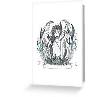 Huntress blue Greeting Card