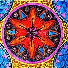 Orange Mandala by WienArtist
