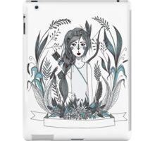 Huntress blue iPad Case/Skin