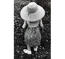 Girl in Hat Photographic Print
