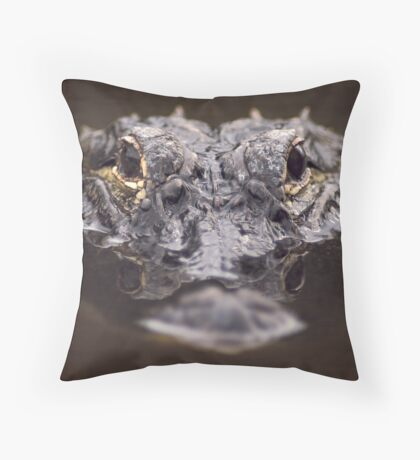 Loxahatchee Gator Throw Pillow