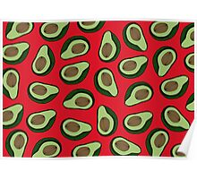 AVOCADO - RED Poster