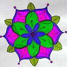 Pink, Green and Purple Mandala by WienArtist