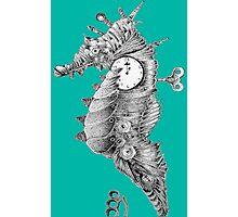 Steampunk Seashorse Photographic Print