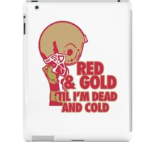 Red and Gold iPad Case/Skin