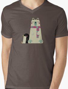 Polar Bear Mens V-Neck T-Shirt