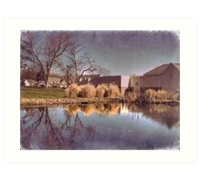 Lower Water Pond Art Print