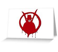 V of Vendetta Greeting Card