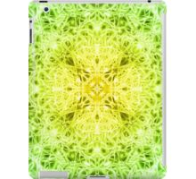 """Spirit of India: Fleur-Web"" in grass green and yellow iPad Case/Skin"