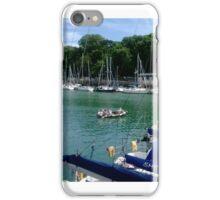 sailing weymouth quay iPhone Case/Skin