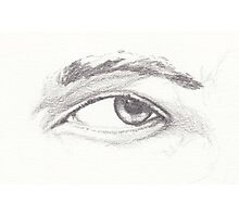 Pencil Study of Left Eye on 200gsm acid-free drawing cartridge Photographic Print