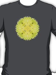 """""""Spirit of India: Fleur-Web"""" in grass green and yellow T-Shirt"""