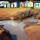 Bathing Boxes, Mornington Beach 2 by Roz McQuillan