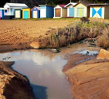 Bathing Boxes, Mornington Beach 2 by Roz McQuillan