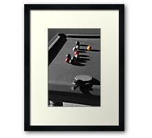 Pool and ping pong Framed Print