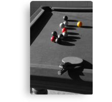 Pool and ping pong Canvas Print