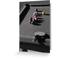 Pool and ping pong Greeting Card