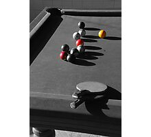 Pool and ping pong Photographic Print