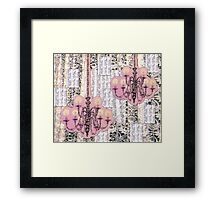 Chandeliers and Lace Framed Print