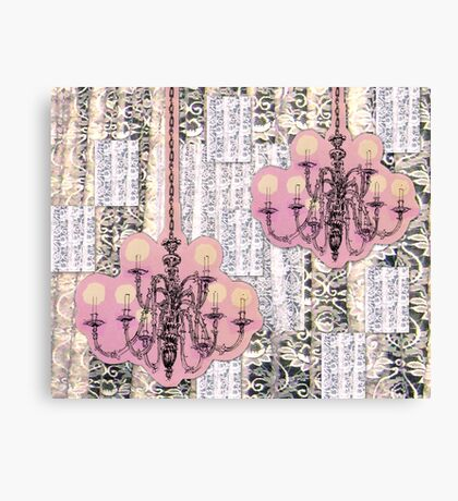 Chandeliers and Lace Canvas Print
