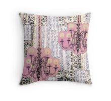 Chandeliers and Lace Throw Pillow