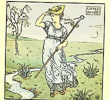The Baby's Opera - A Book of Old Rhymes With New Dresses - by Walter Crane - 1900-41 Little Bo Peep Plate by wetdryvac