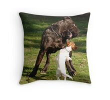 Big pup and Little pup Throw Pillow