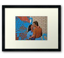 Love at the Bowling Alley Framed Print
