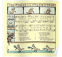 The Baby's Boquet - A Fresh Bunch of Old Rhymes and Tunes - by Walter Crane - 1900-50 The Three Little Kittens Poster