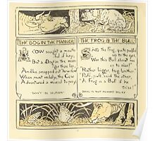 The Baby's Own Aesop by Walter Crane 1908-22 The Dog in the Manger, The Frog and the Bull Poster
