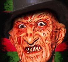 Horror Icons: Freddy Krueger - A Nightmare On Elm Street by darkvisionsart