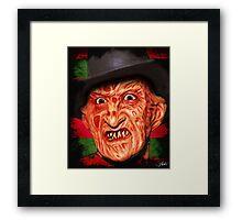 Horror Icons: Freddy Krueger - A Nightmare On Elm Street Framed Print