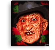 Horror Icons: Freddy Krueger - A Nightmare On Elm Street Canvas Print