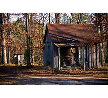 Starter Home with Outhouse Photographic Print