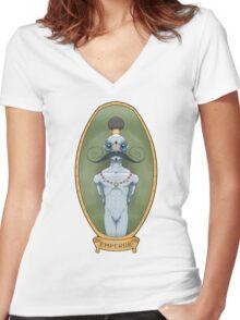 Tribal Emperor Women's Fitted V-Neck T-Shirt