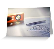 Tools of the architect. Greeting Card