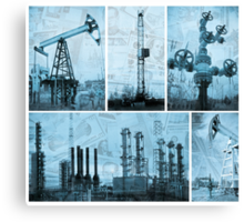 Oil industry and money. Canvas Print