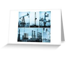 Oil industry. Oil extraction. Greeting Card