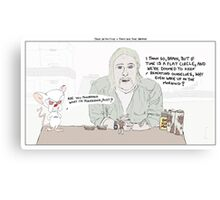 True Detective + Pinky and the Brain Canvas Print