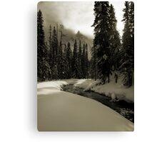 Yoho Winter Scene Canvas Print