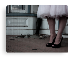 coming undone Canvas Print