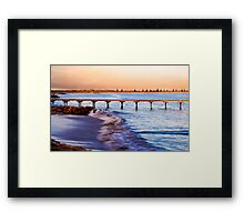 Sunset at Beachport Jetty in landscape Framed Print