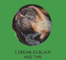 Rottweiler's Dream In Black and Tan Kids Clothes
