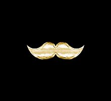 Faux Gold Brass Metal Mustache 4 by TigerLynx